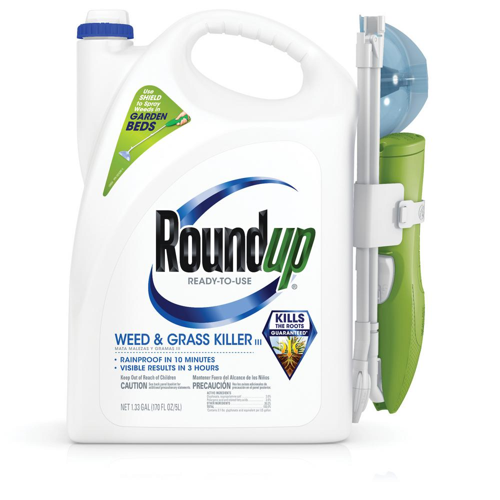 Roundup Ready-to-Use Weed and Grass Killer with Sure Shot Wand