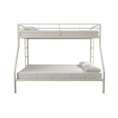 Cindy White Twin over Full Metal Bunk Bed
