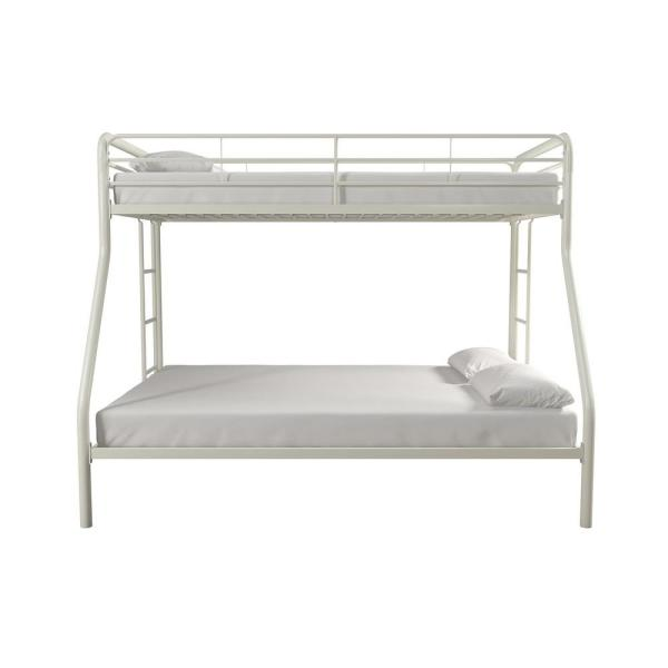 DHP Cindy White Twin over Full Metal Bunk Bed DE77379
