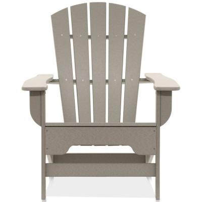 Boca Raton Light Gray Recycled Plastic Adirondack Chair
