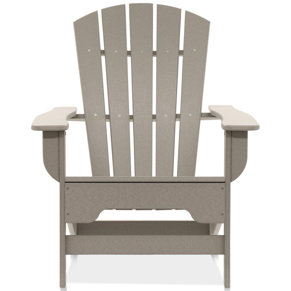 Boca Raton Light Gray Recycled Plastic Adirondack Chair