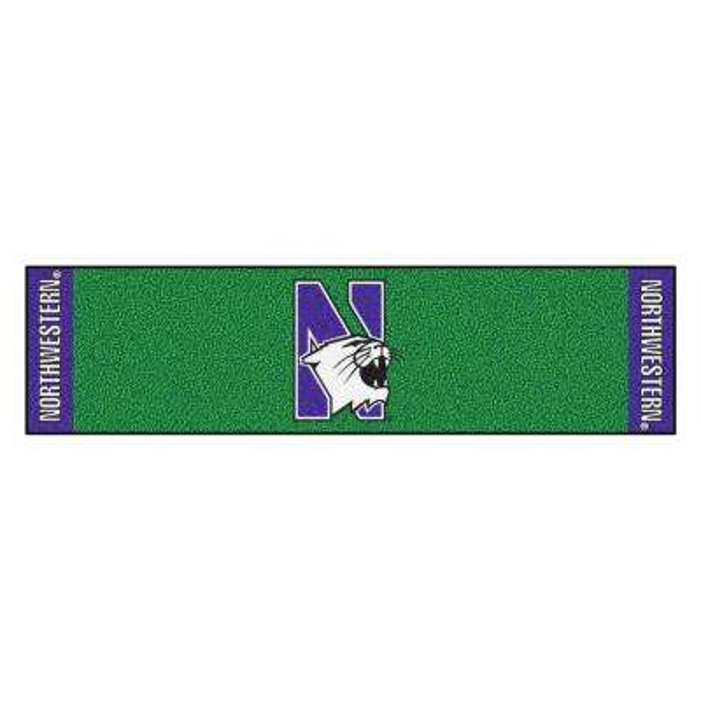 NCAA Northwestern University 1 ft. 6 in. x 6 ft. Indoor 1-Hole Golf Practice Putting Green
