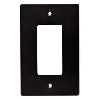Subway Tile Decorative Single Rocker Switch Plate, Flat Black