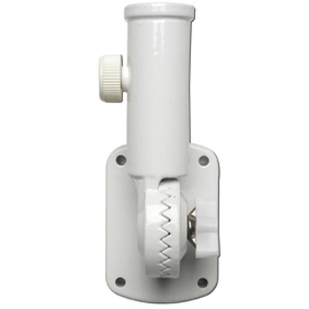 "New 60752 VALLEY FORGE upto 1/"" Flag Pole Bracket White Cast Aluminum 2 Position"