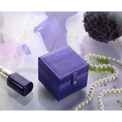 3.3 in. Azure Blue Mini Square Travel Jewelry Case