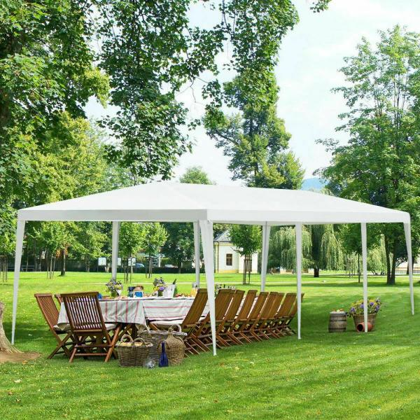 Costway 30 Ft X 10 Ft Canopy Party Wedding Event Tent Heavy Duty Gazebo Cater With Side Walls Op3606 The Home Depot