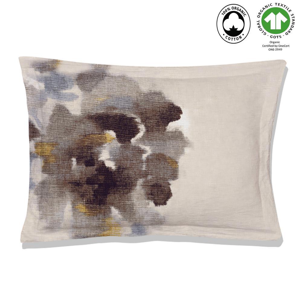 Freshet Reversible Print Multi-Color 100% Organic Cotton Queen Sham (Set of 2)