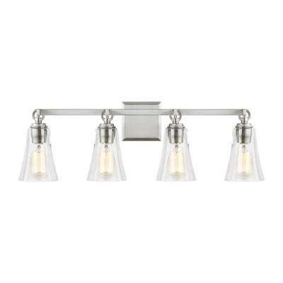 Monterro 4-Light Satin Nickel Bath Light