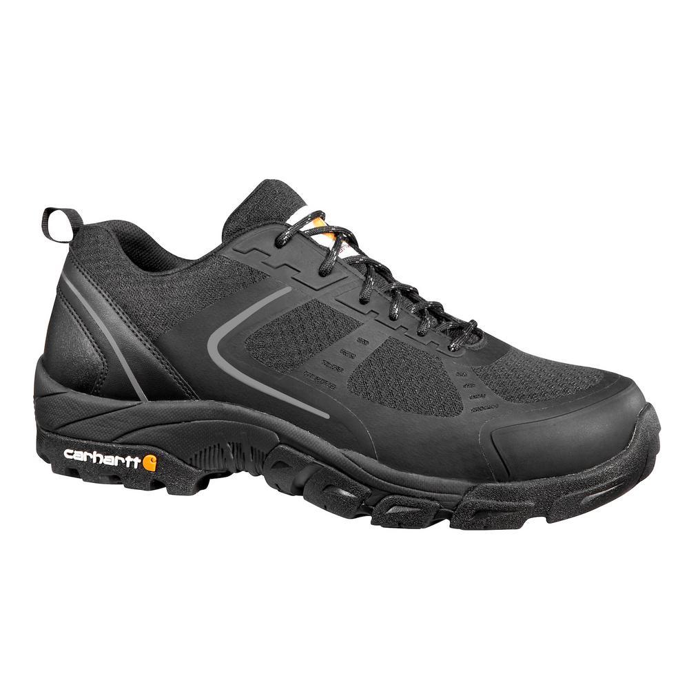 Carhartt Men's 10.5W Lightweight Low Black Nylon Mesh NWP Steel Safety Toe Work Shoe