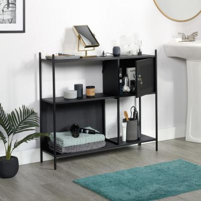 HomeVisions Black Accent Storage Cabinet