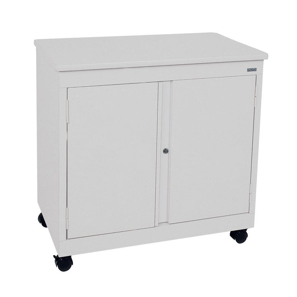 30 in. H x 30 in. W x18 in. D Mobile Steel Cabinet in Dove Gray