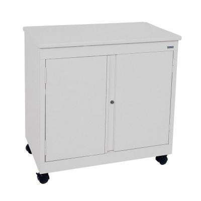 30 in. H x 30 in. W x18 in. D Mobile Steel Cabinet in Dove Gray