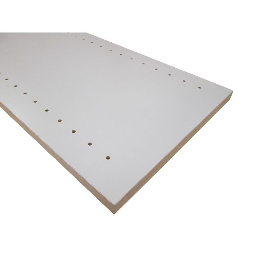 null 3/4 in. x 12 in. x 97 in. Folkstone Grey Thermally-Fused Melamine Adjustable Side Panel