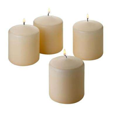 3 in. x 3 in. 1 Vanilla Unscented Pillar Candle