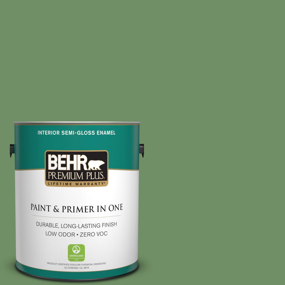 BEHR Premium Plus 1-gal. #M400-6 Mixed Veggies Semi-Gloss Enamel Interior Paint