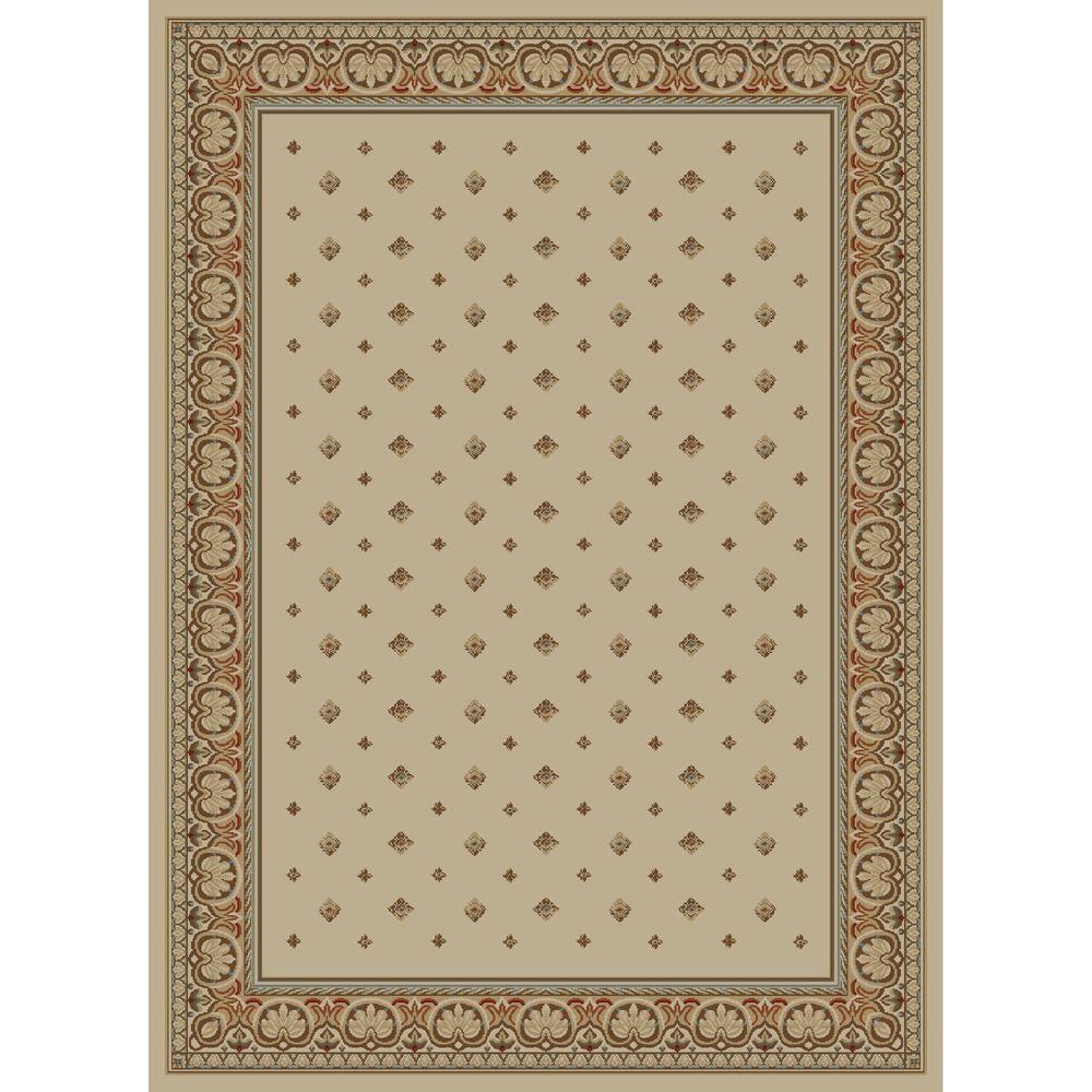 Concord Global Trading Ankara Pin Dot Ivory 6 ft. 7 in. x 9 ft. 6 in. Area Rug
