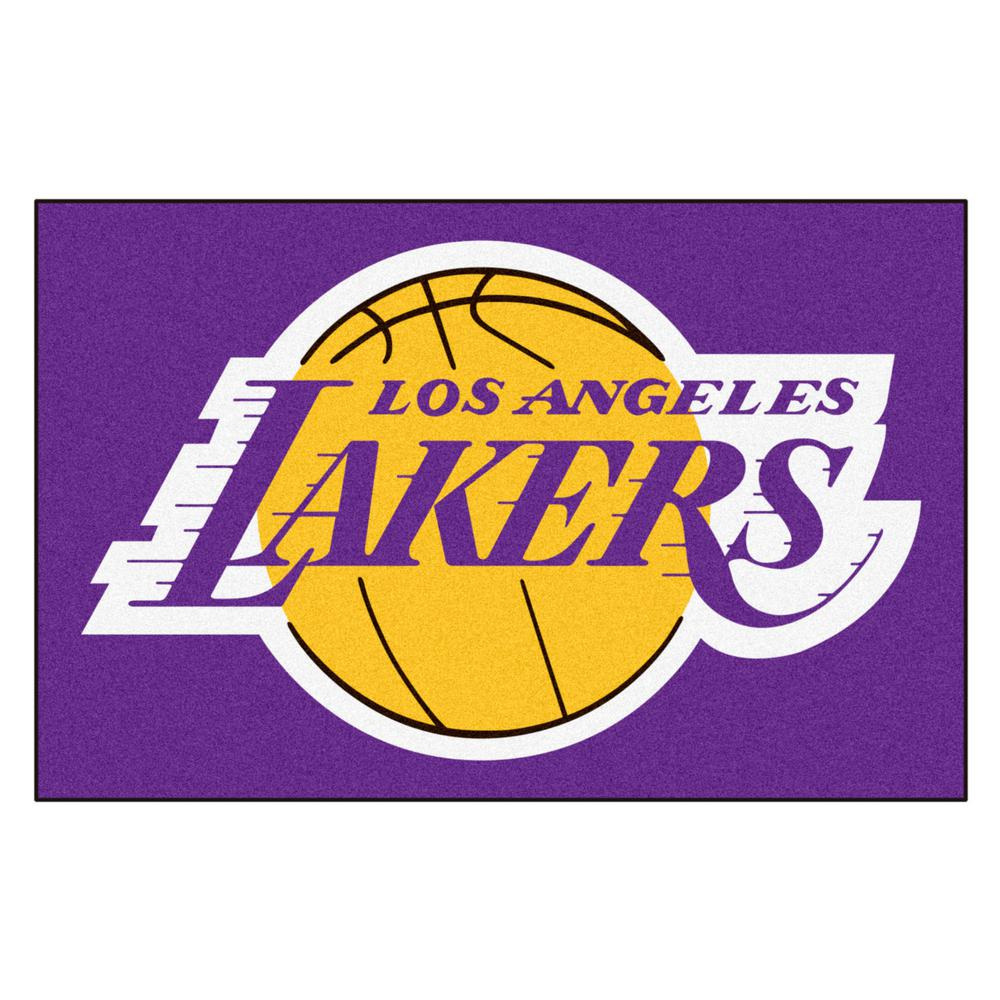 Fanmats Nba Los Angeles Lakers Black 2 Ft X 3 Ft Area