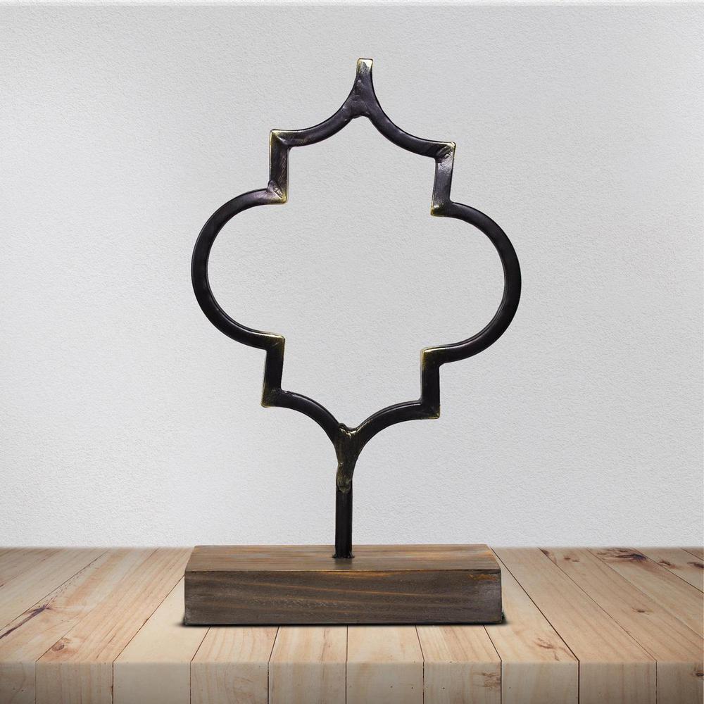 Crystal Art Gallery Metal Table Top Figure Decor Sculpture
