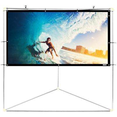 72 in. Portable Outdoor Projector Screen