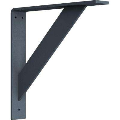 2 in. x 12 in. x 12 in. Steel Hammered Gray Traditional Bracket
