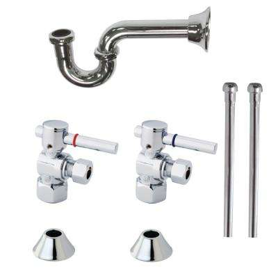 Classic Decorative 1-1/4 in. Brass P-Trap and Supply Set in Chrome