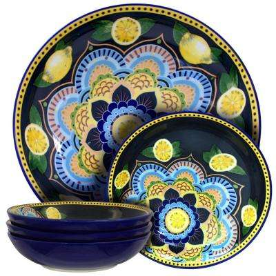 Luna De Lemon 11 in. and 8 in. 5-Piece Serving Bowl Set