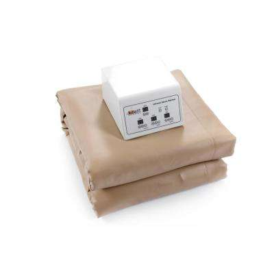 Infrared Heating Blanket with Temperature Control Low-EMF Carbon Heaters and Auto Shut-Off