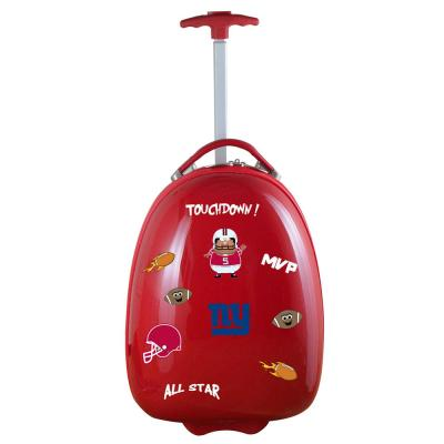 Denco NFL New York Giants 18 in. Red Kids Pod Luggage Suitcase