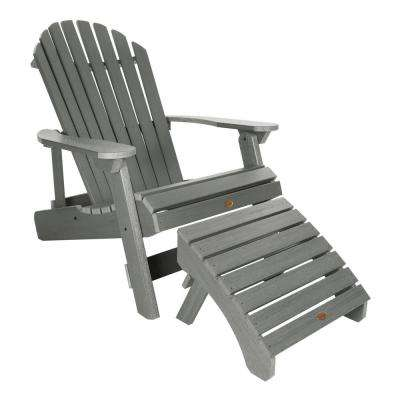 King Hamilton Coastal Teak 2-Piece Recycled Plastic Outdoor Seating Set