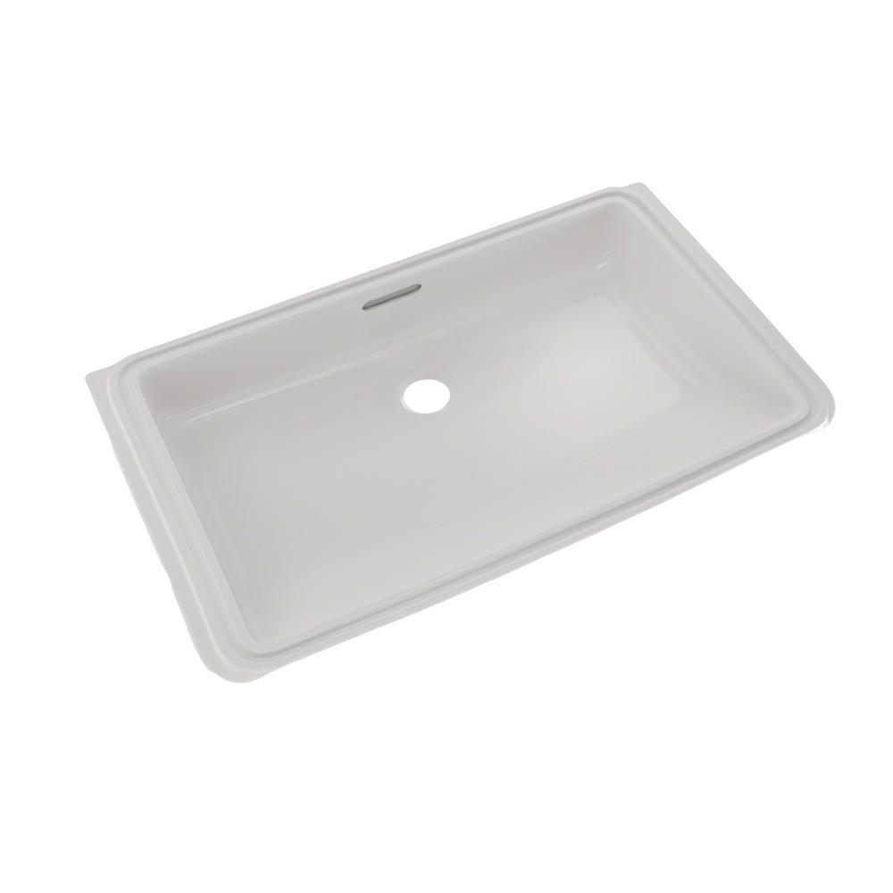 TOTO 21 in. Rectangular Undermount Bathroom Sink with CeFiONtect ...