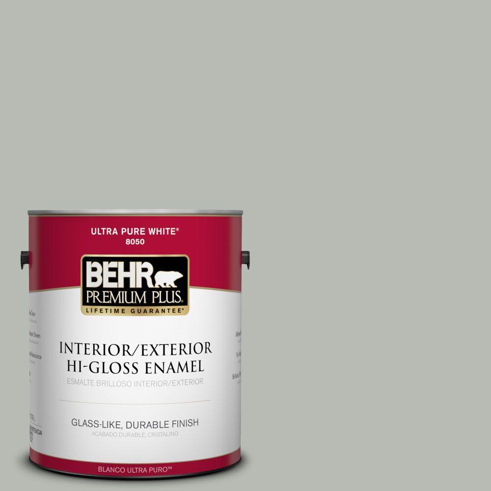 Home Decorators Collection 1-gal. #HDC-AC-21 Keystone Gray Hi-Gloss Enamel