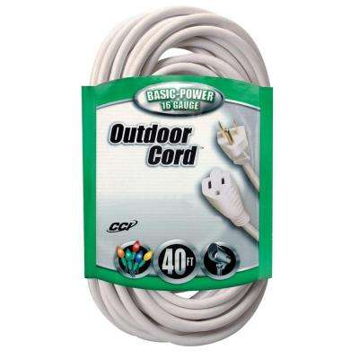 40 ft. 16/3 SJTW Outdoor Light-Duty Extension Cord