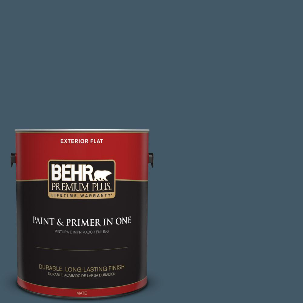 1-gal. #S480-7 Midnight in the Tropics Flat Exterior Paint