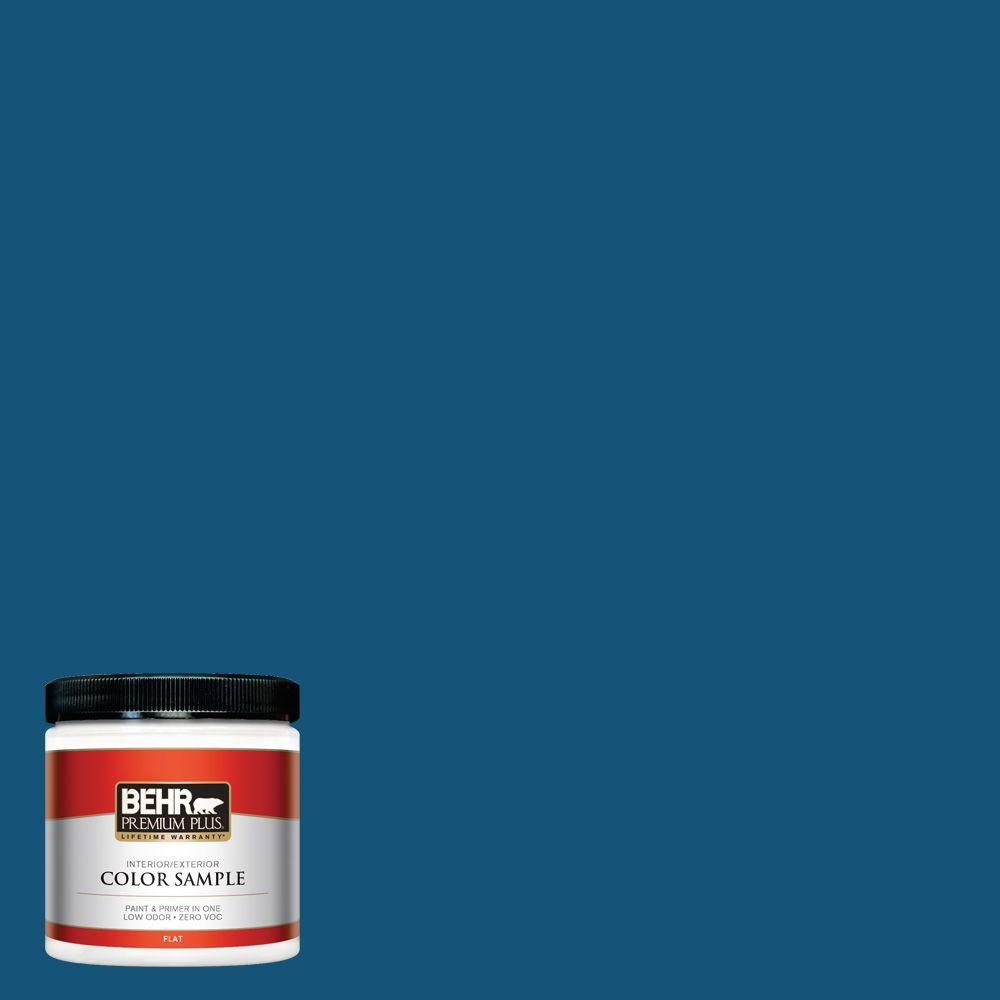 BEHR Premium Plus 8 oz. #S-H-560 Royal Breeze Interior/Exterior Paint Sample