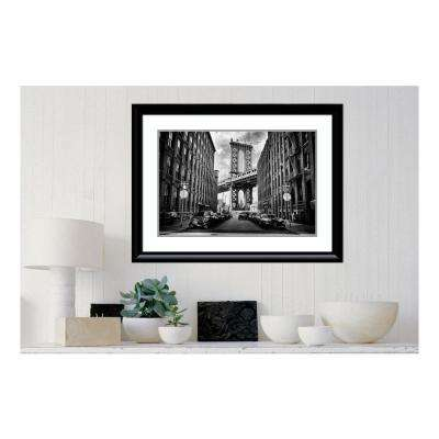 36 in. W x 27 in. H 'In America' by Lidia Vanhamme Printed Framed Wall Art