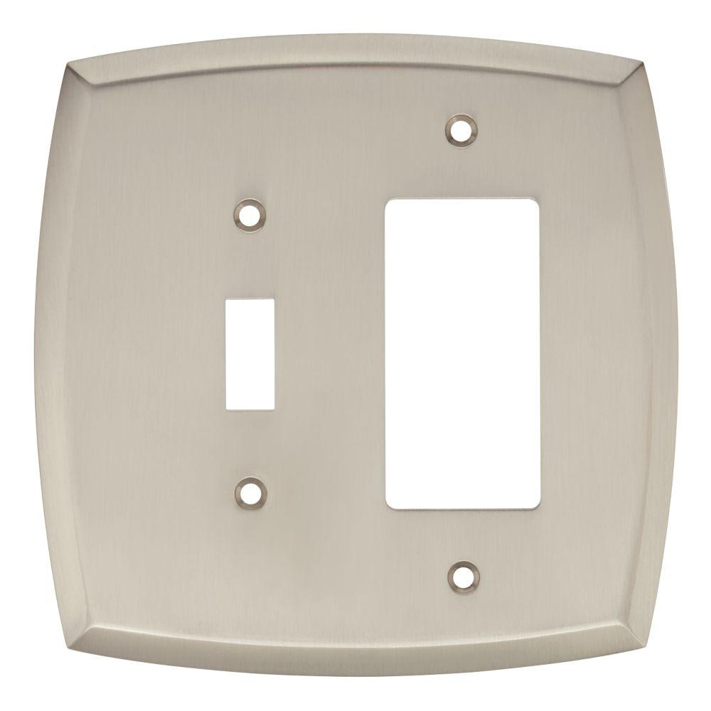 Liberty Amherst Decorative Light Switch And Rocker Cover Satin Nickel