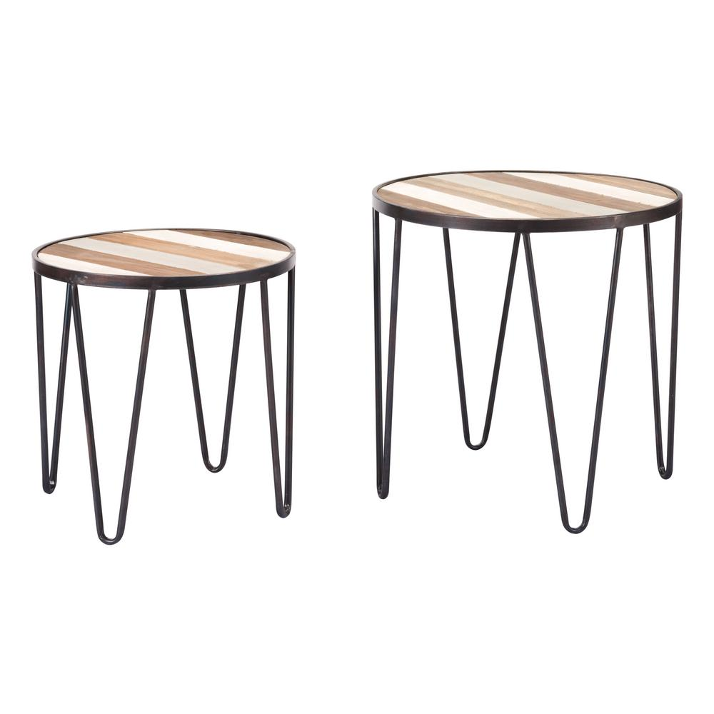 ZUO Multicolor Antique Tray Tables (Set Of 2)