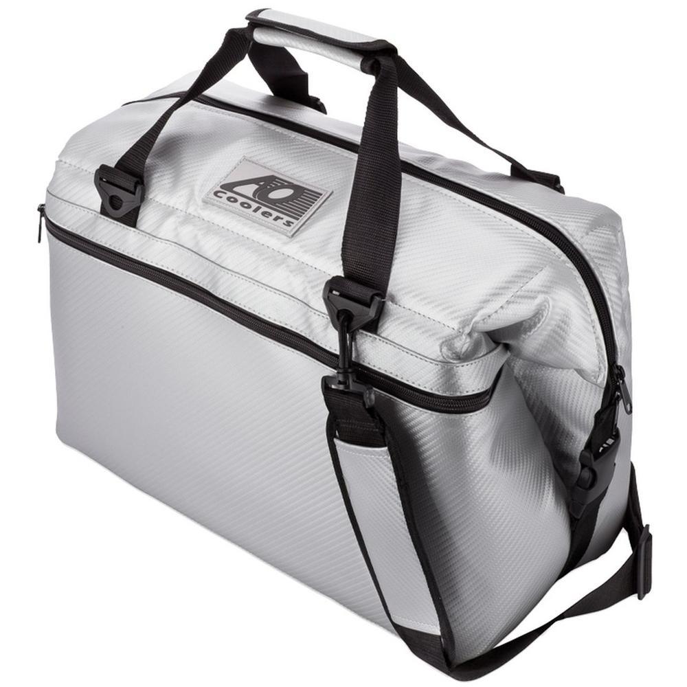 30 qt. Soft Carbon Cooler with Shoulder Strap and Wide Outside Pocket