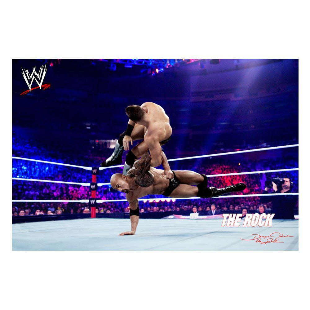 Trademark Fine Art 22 in. x 32 in. Officially Licensed WWE The Rock II Canvas Art