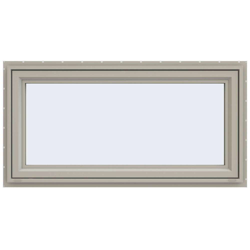 JELD-WEN 47.5 in. x 23.5 in. V-4500 Series Awning Vinyl Window - Tan
