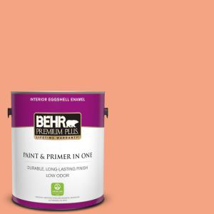 Behr Premium Plus 1 Gal P190 4 Siren Eggshell Enamel Low Odor Interior Paint And Primer In One 240001 The Home Depot