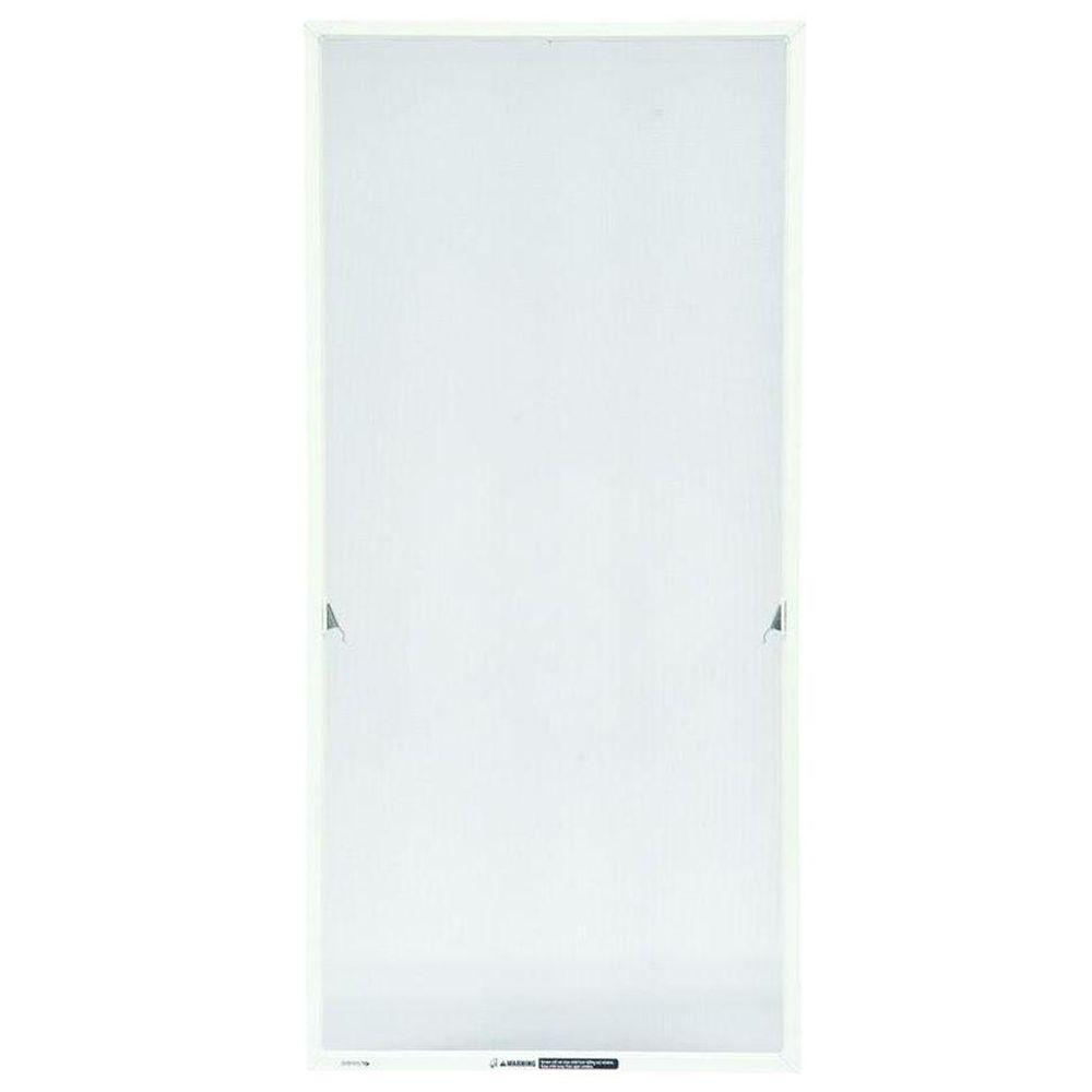 24-15/16 in. x 55-13/32 in. White Aluminum Casement Insect Screen