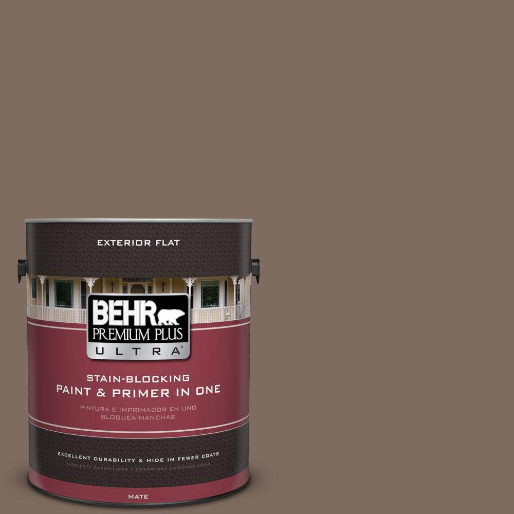 BEHR Premium Plus Ultra 1-gal. #PPU5-3 Antique Earth Flat Exterior Paint