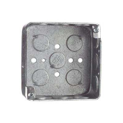 2-Gang 4 in. x 1-1/2 in. Deep Square Metal Electrical Box (Case of 50)