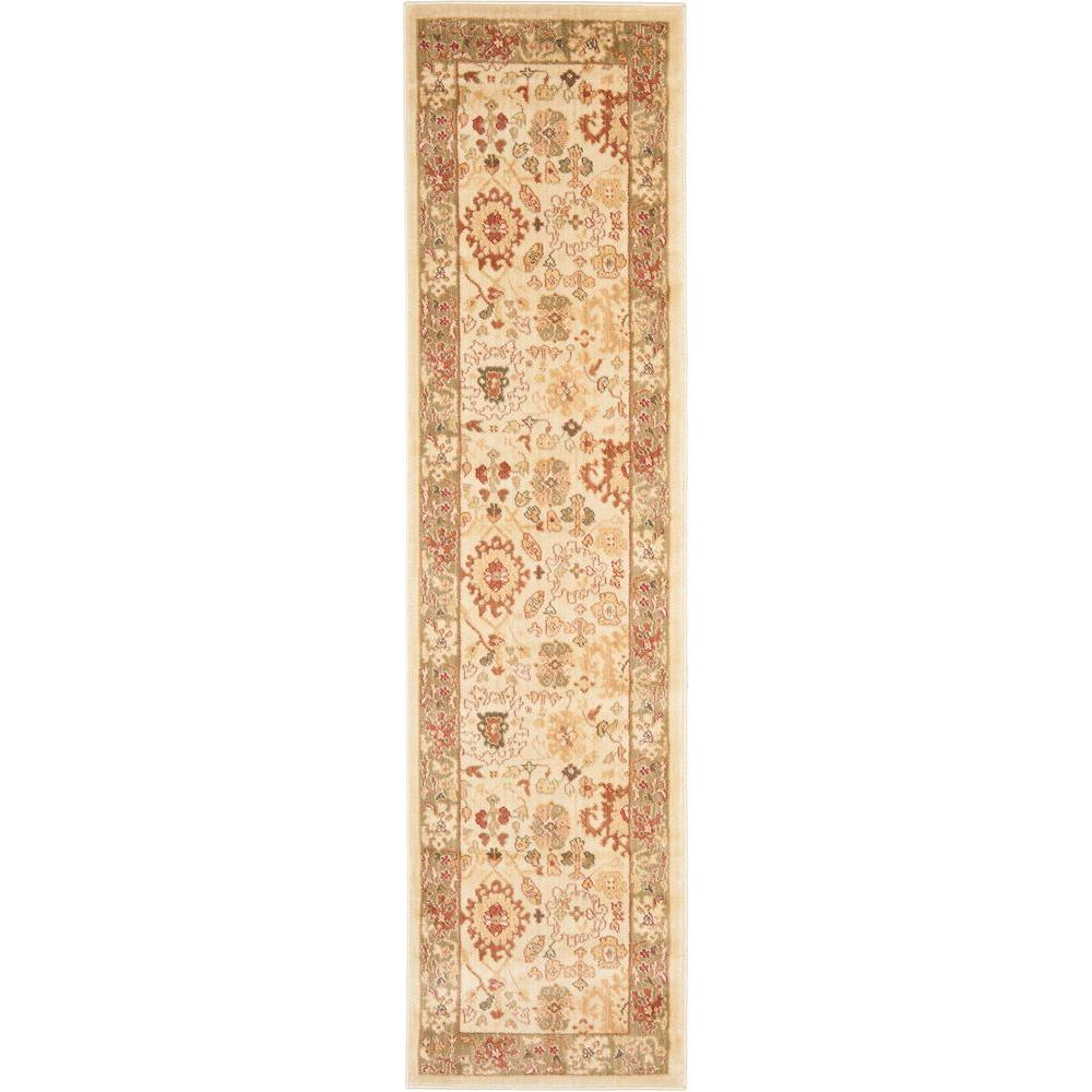 Safavieh Heirloom Cream/Green 2 ft. 3 in. x 8 ft. Runner