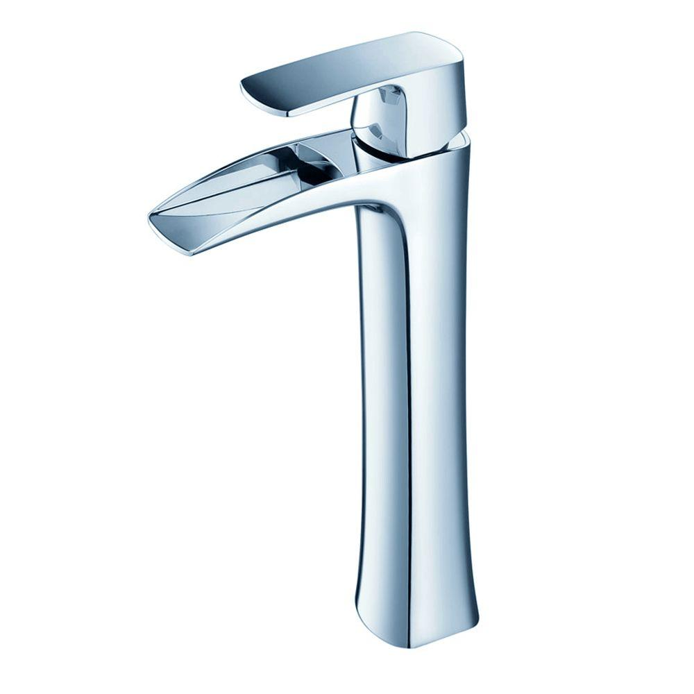 Fresca Fortore Single Hole 1-Handle Vessel Bathroom Faucet in Chrome ...