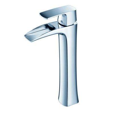 Fortore Single Hole 1-Handle Vessel Bathroom Faucet in Chrome
