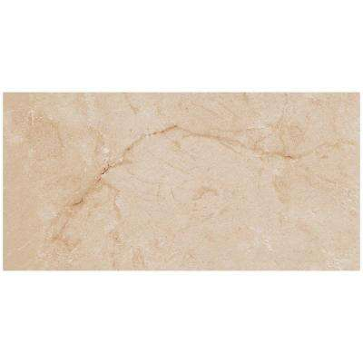 VitaElegante Crema 12 in. x 24 in. Porcelain Floor and Wall Tile (15.6 sq. ft. / case)