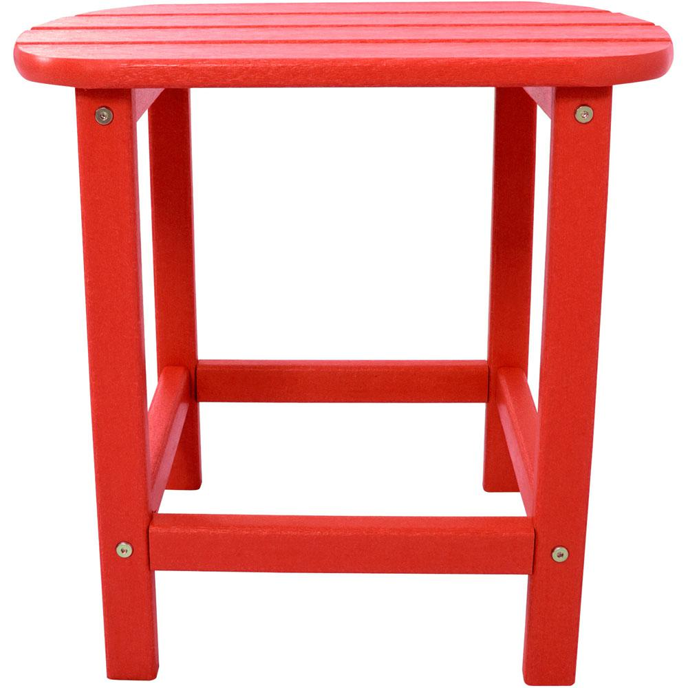 Sunset Red All-Weather Patio Side Table