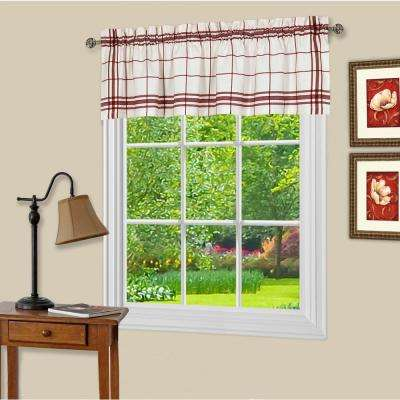 Bainbridge 14 in. L Polyester Valance in Burgundy